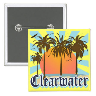 Playa la Florida FLA de Clearwater Pin Cuadrada 5 Cm