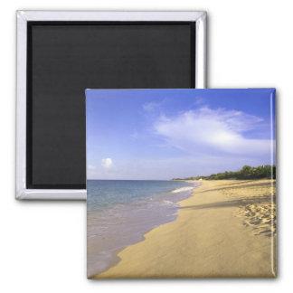 Playa larga de la bahía de Baie Longue, San Martín Imán Cuadrado
