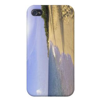 Playa larga de la bahía de Baie Longue, San Martín iPhone 4 Carcasa