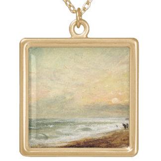 Playa levantada, c.1824 (aceite en el documento so grímpola