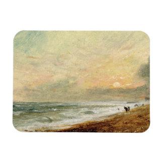 Playa levantada, c.1824 (aceite en el documento so iman rectangular
