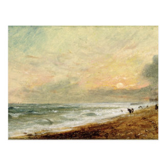 Playa levantada c 1824 aceite en el documento so tarjetas postales