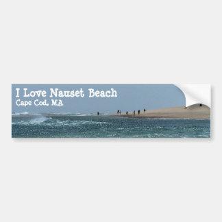 Playa ligera de Nauset Pegatina De Parachoque