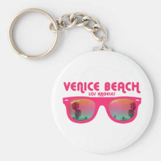 Playa Los Ángeles de Venecia Llavero Redondo Tipo Pin