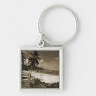 Playa Los Caballos Antique Keychain