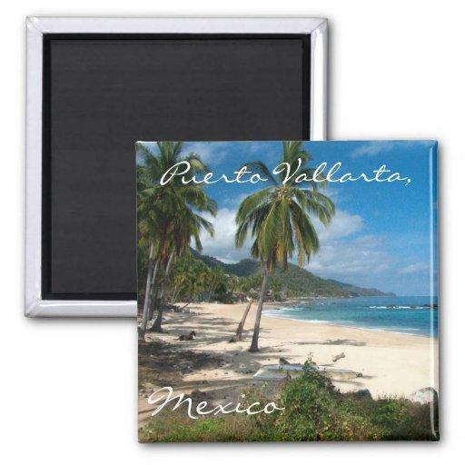 Playa Los Caballos Blue Fridge Magnet