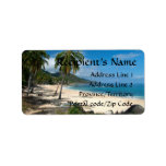 Playa Los Caballos Blue Personalized Address Labels