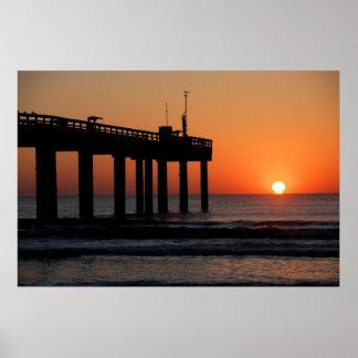 Playa majestuosa la Florida de St Augustine de la  Póster