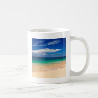 Playa Makena Maui Hawaii Taza Básica Blanca
