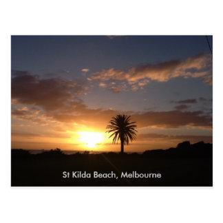 Playa Melbourne del St Kilda Tarjetas Postales