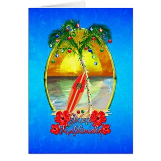 Playa Mele Kalikimaka Tarjeta De Felicitación
