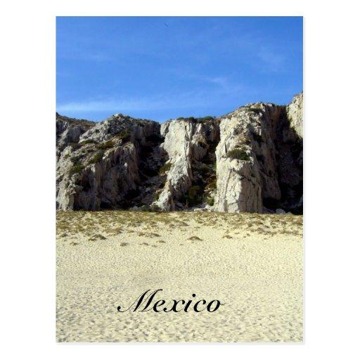 playa mexicana tarjeta postal
