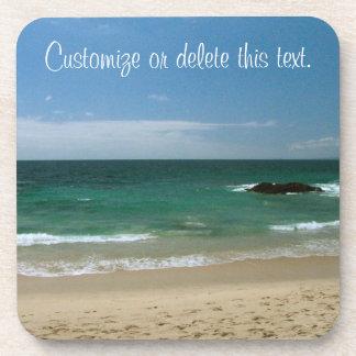 Playa mexicana Vista; Personalizable Posavasos De Bebidas
