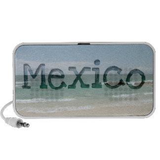 Playa mexicana Vista; Recuerdo de México Portátil Altavoz