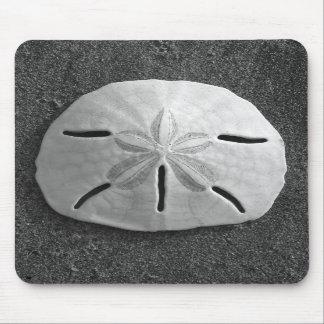 Playa Mousepad de la arena del Seashell del dólar