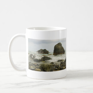 Playa na degradado en taza de la provincia de la