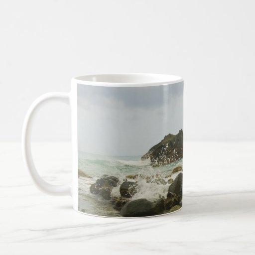 Playa na degradado en taza de la provincia de la a
