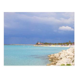 Playa náufraga de la isleta tarjetas postales