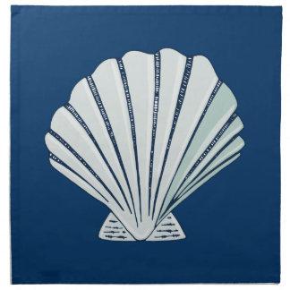 Playa náutica Shell Servilleta Imprimida