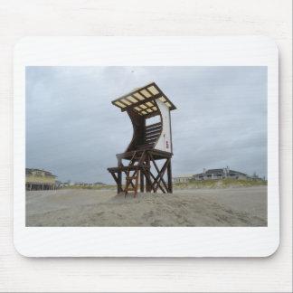 Playa NC de Wrightsville del soporte del guardia d Tapetes De Ratón