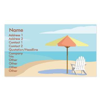 Playa - negocio tarjetas de visita
