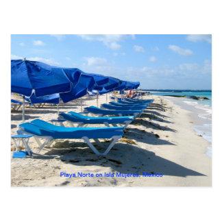 Playa Norte, Isla Mujeres, México Postal