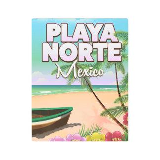 Playa Norte Mexican beach poster
