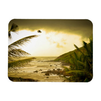 Playa nublada de Goa Imán