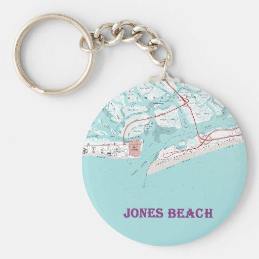 Playa Nueva York de Jones Llavero Redondo Tipo Pin