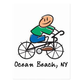 Playa NY del océano Postal
