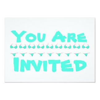 Playa o fiesta en la piscina personalizada del invitación 12,7 x 17,8 cm