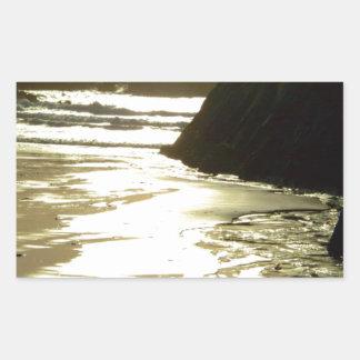 Playa occidental de Irlanda Pegatina Rectangular