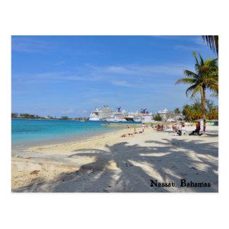 Playa occidental de la explanada tarjeta postal