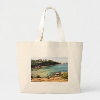 Playa ocultada bolsa tela grande