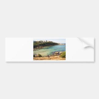 Playa ocultada pegatina para auto
