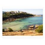 Playa ocultada tarjeta postal