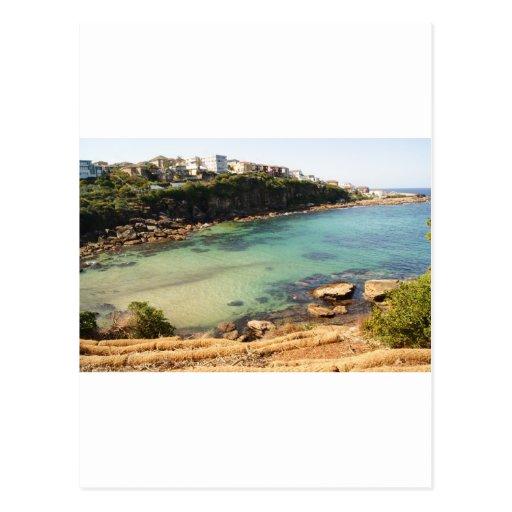 Playa ocultada tarjetas postales