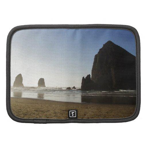 Playa Oregon del cañón de la roca del Haystack Planificador