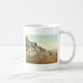 Playa, Overstrand, Inglaterra Photochrom raro Taza