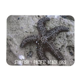 Playa pacífica 1965 de las estrellas de mar imán rectangular