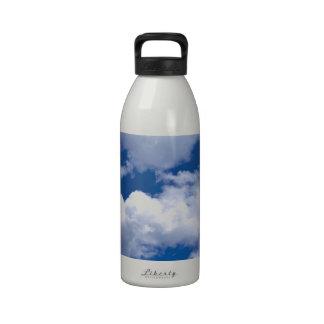 Playa pacífica del océano de las formaciones de la botella de beber