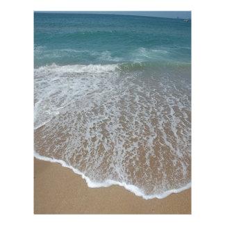 Playa pacífica plantilla de membrete