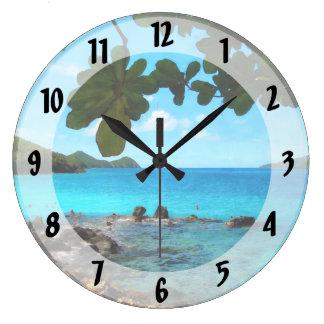 Playa pacífica St Thomas Reloj Redondo Grande