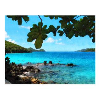 Playa pacífica St Thomas Tarjetas Postales