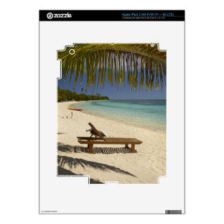 Playa, palmeras y ocioso pegatinas skins para iPad 3