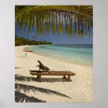 Playa, palmeras y ocioso posters