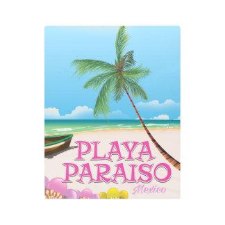 Playa Paraiso Mexico Beach poster