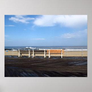 Playa/paseo marítimo del parque de Asbury Posters