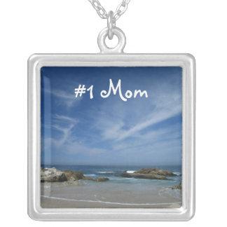 Playa perfecta; El día de madre feliz Colgante Cuadrado