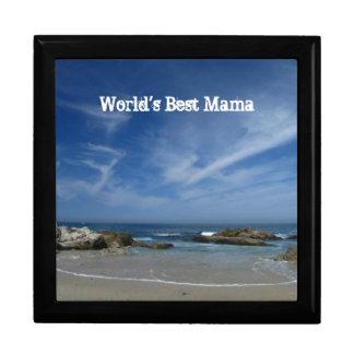 Playa perfecta; El día de madre feliz Joyero Cuadrado Grande